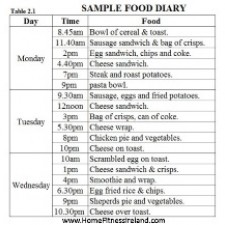 Food Diary Analysis