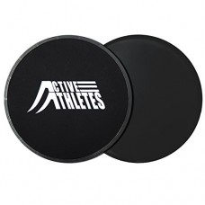 Active Athletes Ab Slider Gliding Discs - 2x Exercise Glider for Core Workout and Full Body Fitness Exercise For Muscle Toning And Weight Loss