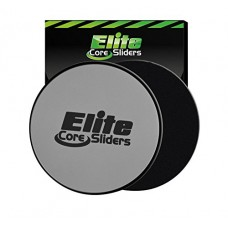 Core Exercise Sliders - 2 Dual Sided Gliding Discs for Carpet and Hard Floors - Silver