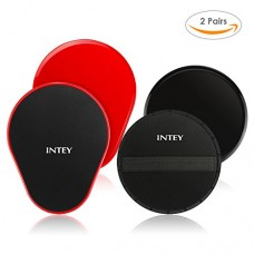 INTEY Gliding Discs Sets of 4, Core Exercise Sliders for Strength and Stability, Core Slides Sets for Home and Gym Workout