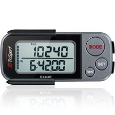 3D Tri Sport Walking  Pedometer with Clip and Strap