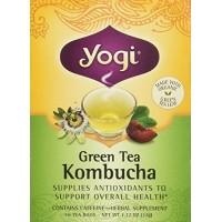 Yogi - Tea Green Tea Kombucha - Contains Caffeine - 16 Tea Bags