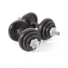 York  Cast Iron Dumbbell Spin-lock Set with multiple weights